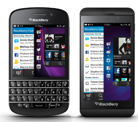 BB10 - Q10 dan Z10 (pic by google)