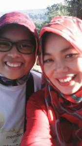 Selfie? Teuteup ^^ (with @irhapunya)